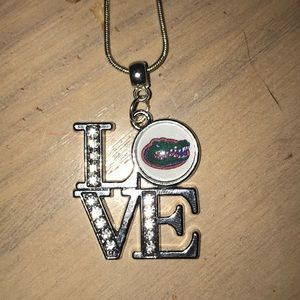 Jewelry - University of Florida Gators love necklace silver